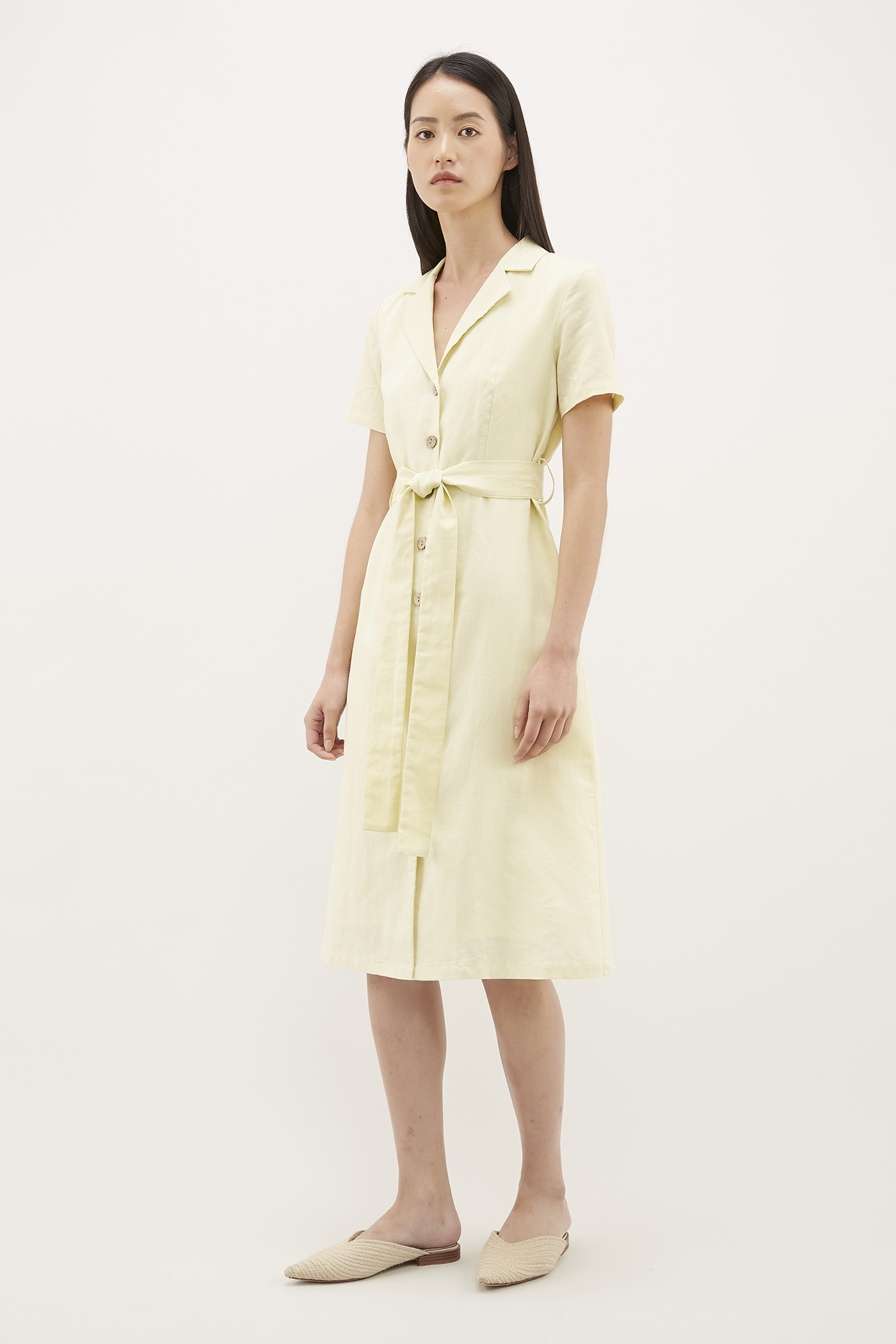 Audley Tie-waist Shirtdress