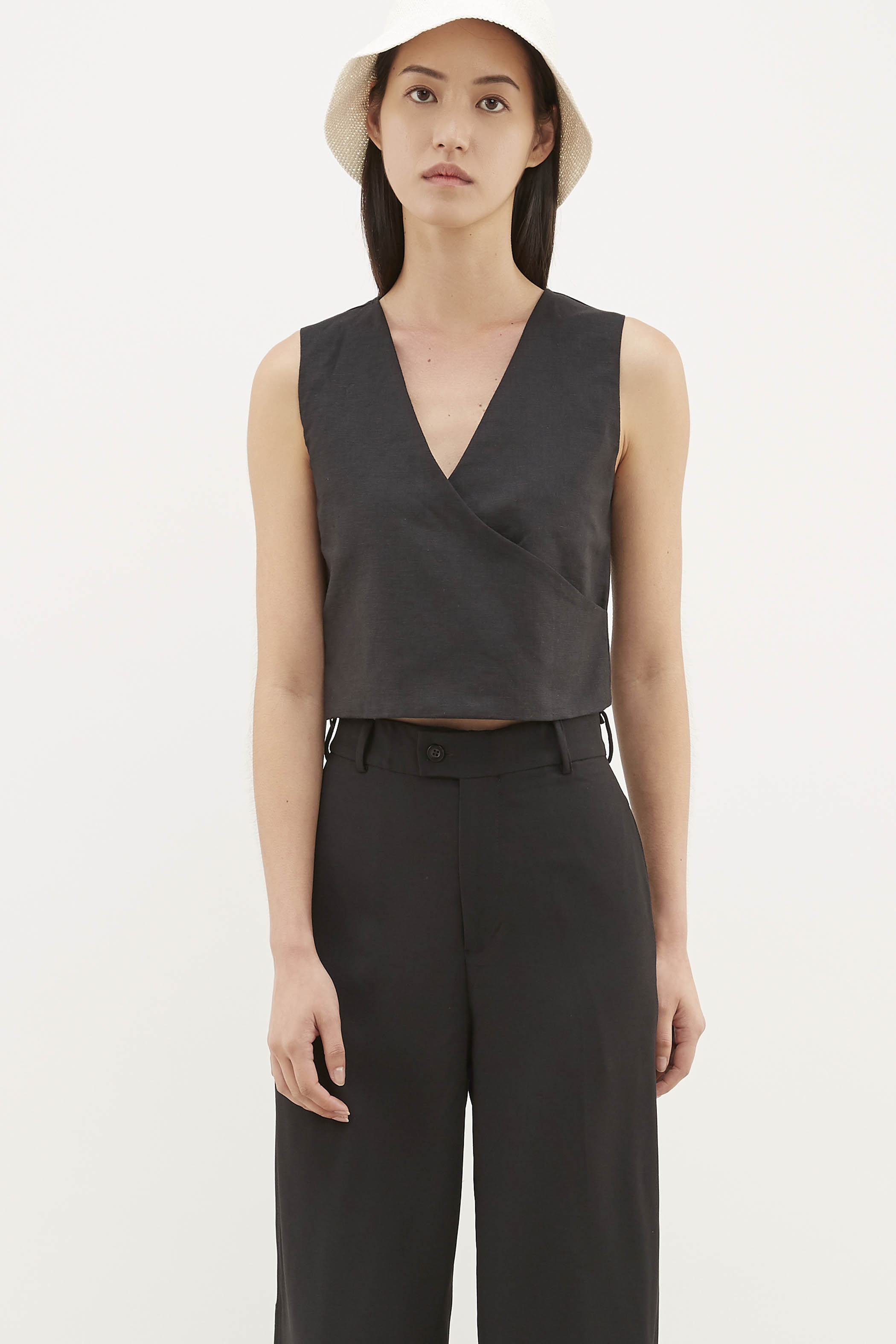 Tisa Cross-front Crop Top