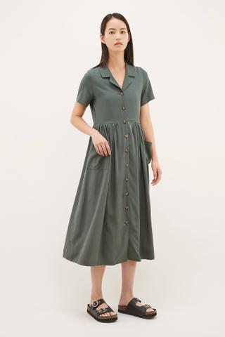 Patwin Button Shirtdress