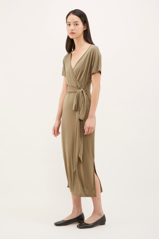 Pevy Cross-front Jersey Dress