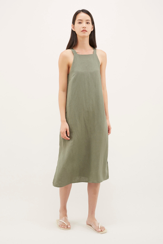 Dilisa Square-neck Dress