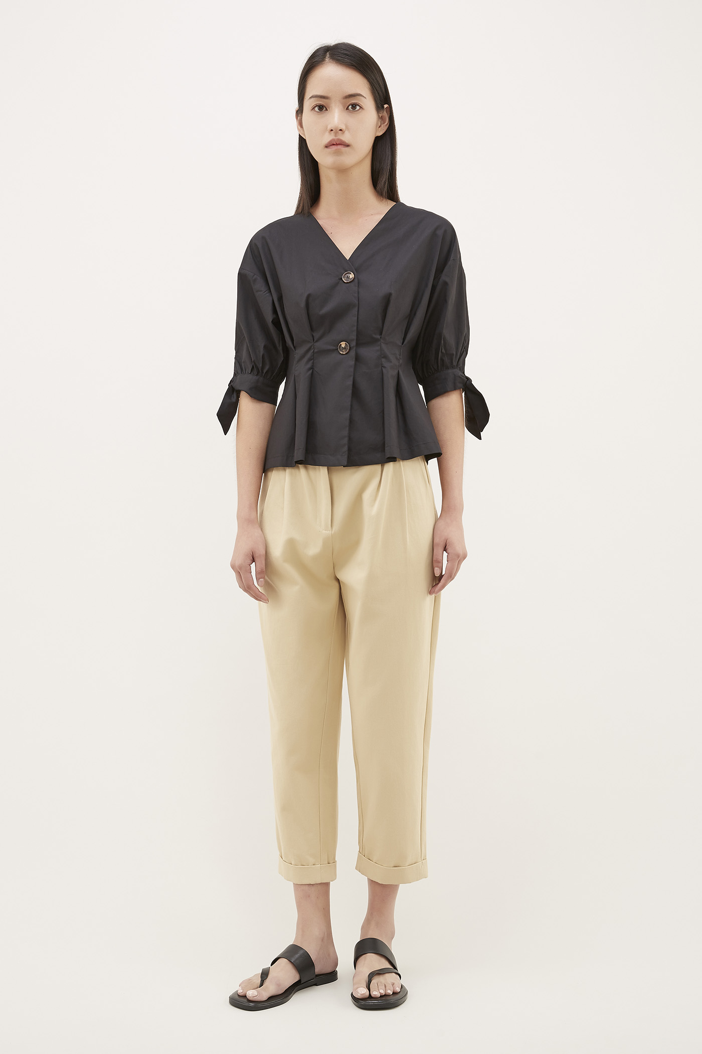 Boris Tuck-seam Blouse