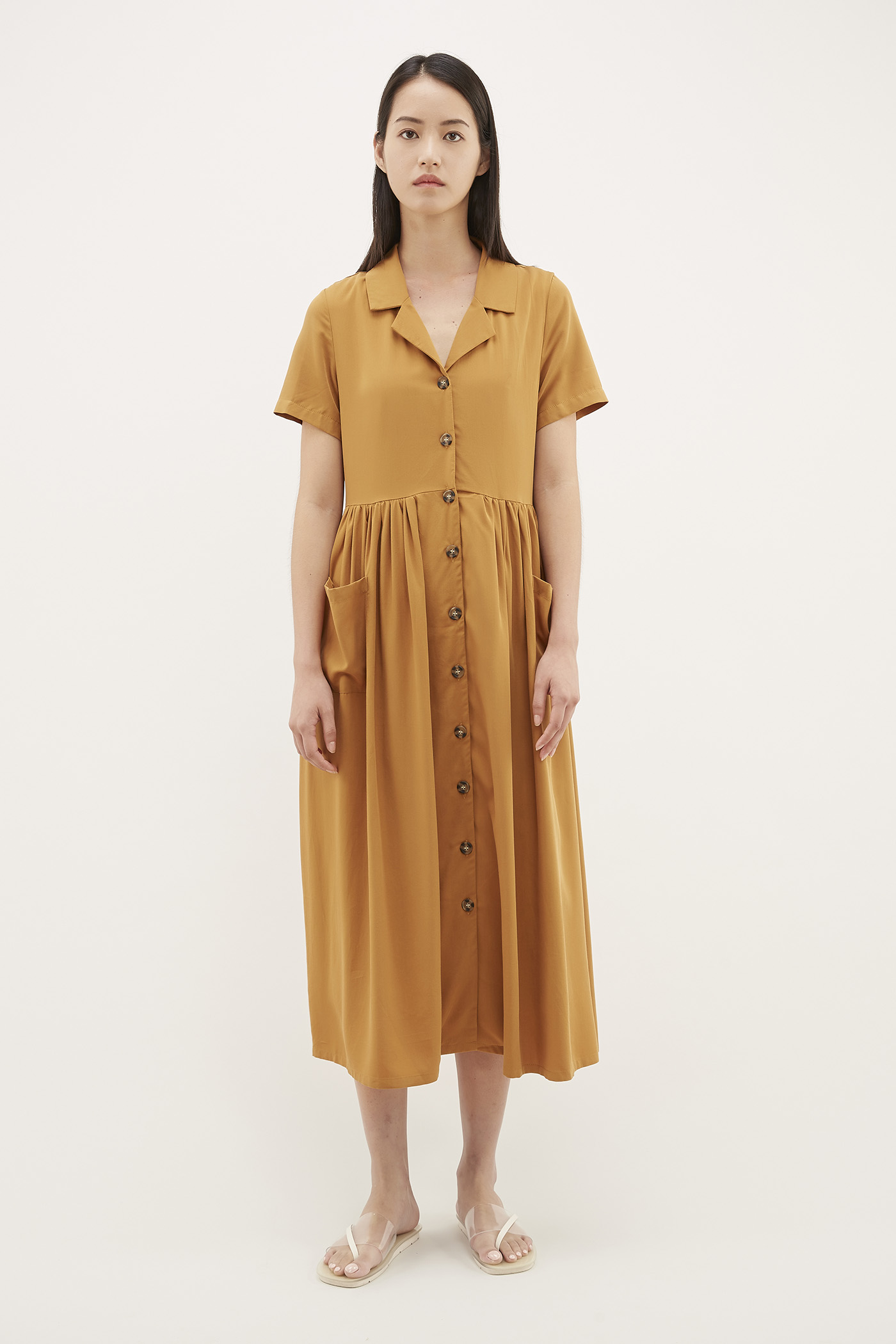 Patwin Button Shirtdress