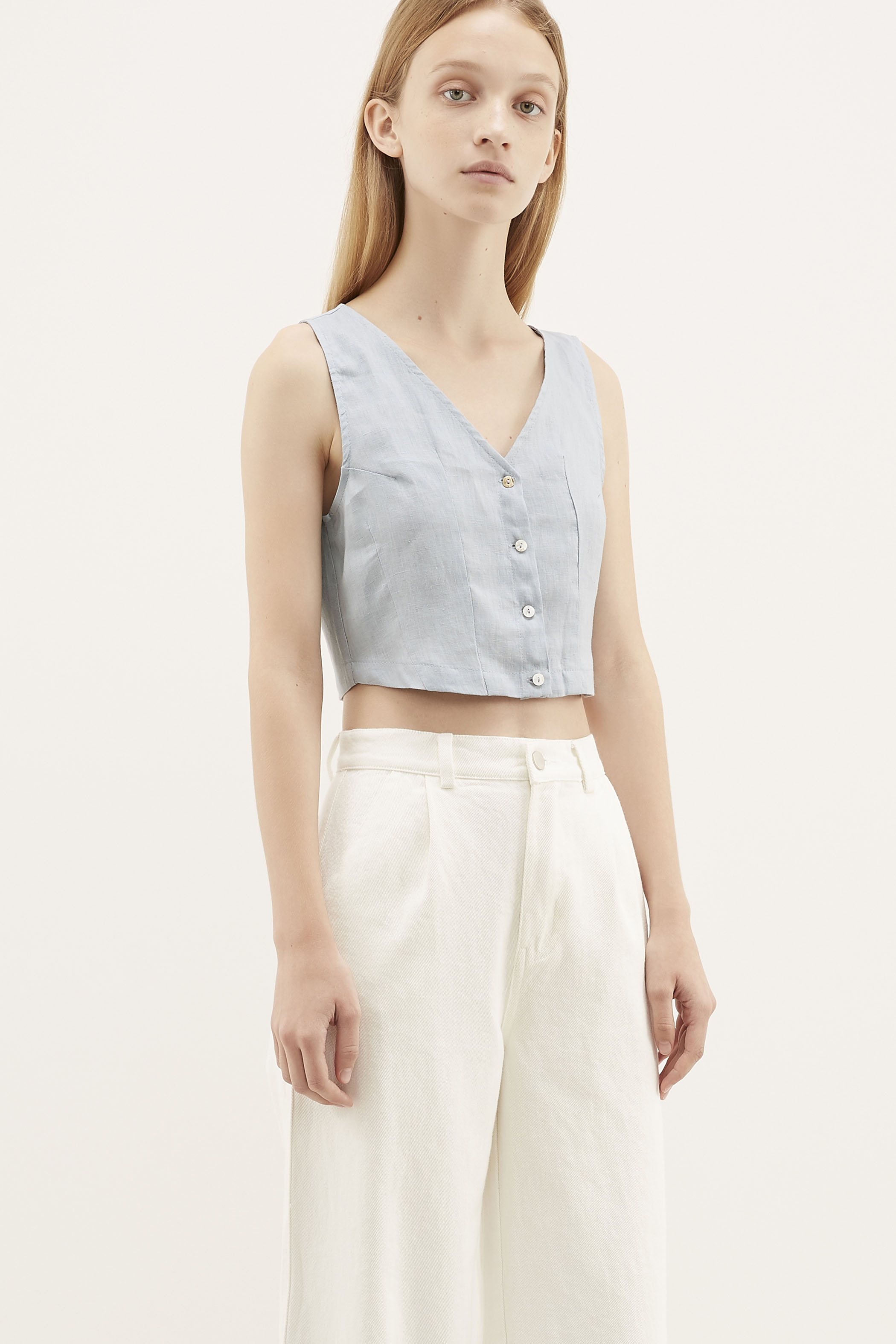 Hariett V-neck Crop Top