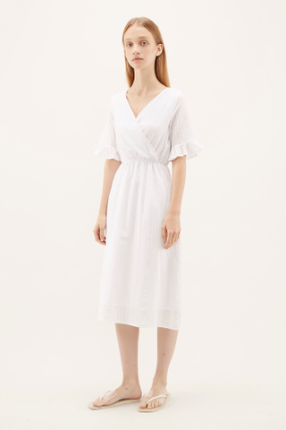 Hannan Frill-sleeve Dress