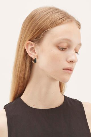 Elisha Structured Hoop Earrings