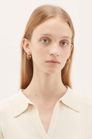 Akhil Layered Tube Earrings