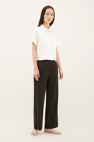Leif Boxy Crop Shirt