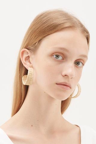Malie Raffia Weaved Earrings