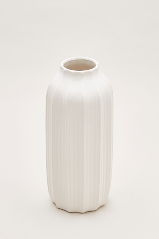 Gustav Vertical Furrow Tall Vase