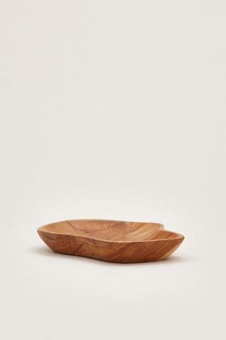 Pelle Wooden Irregular Plate