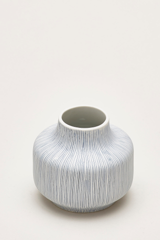 Yuko Lined Short Ceramic Vase