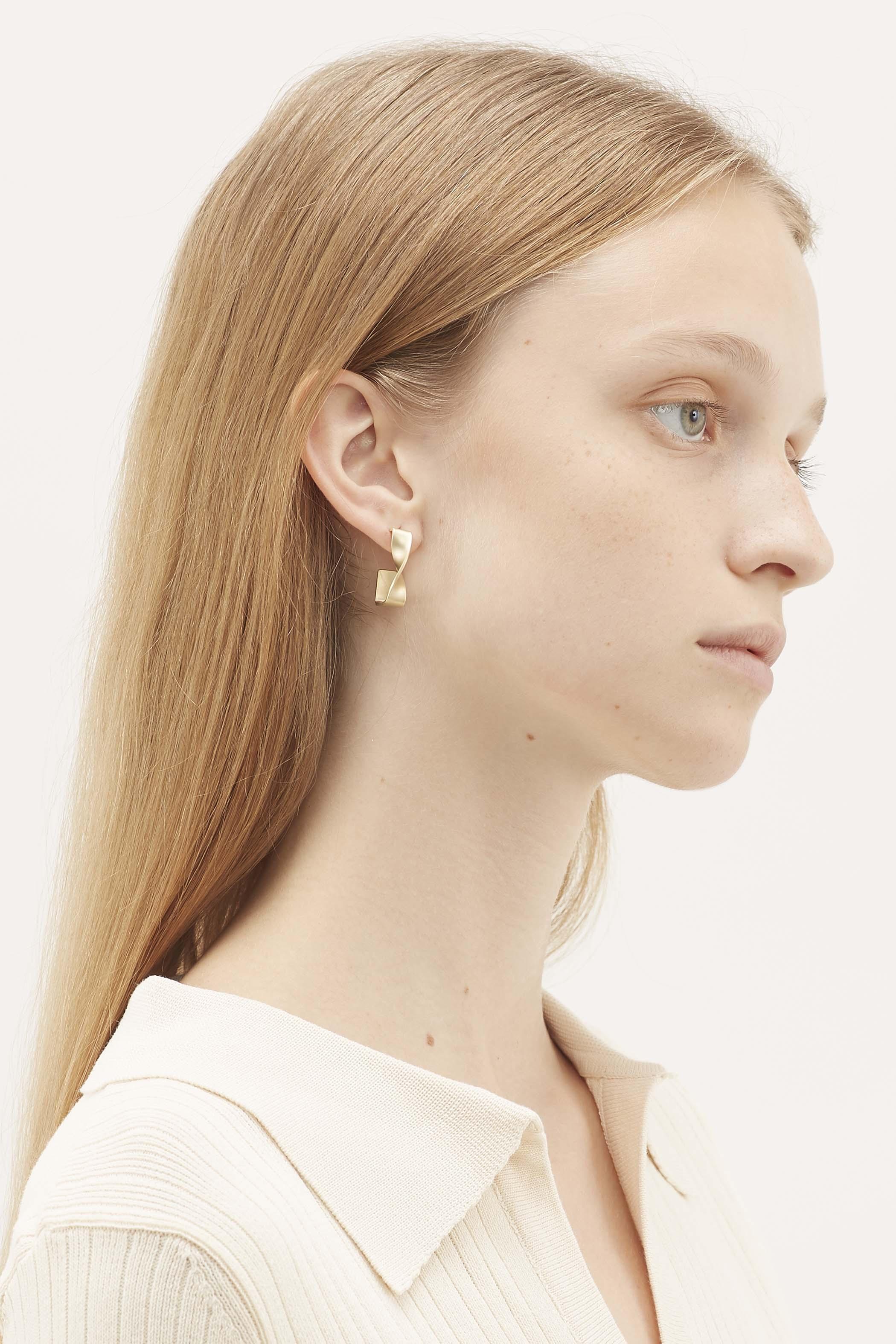 Magdalen Twisted Angular Hoop Earrings