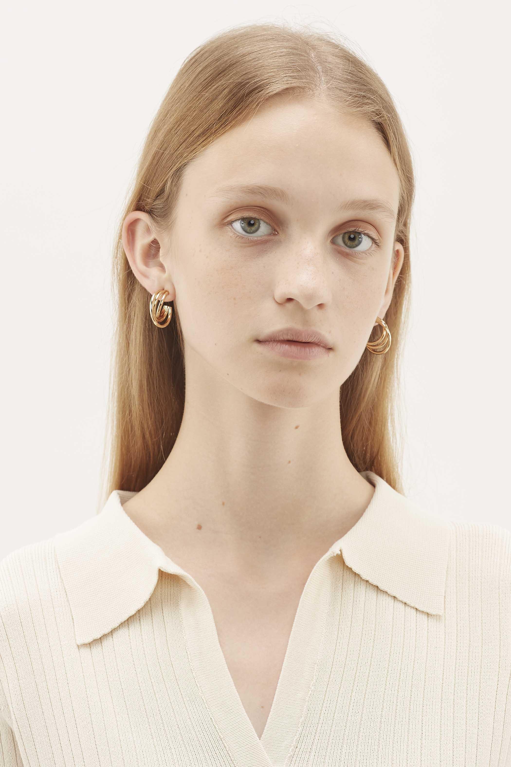 Akhil Layered Tube Earrings