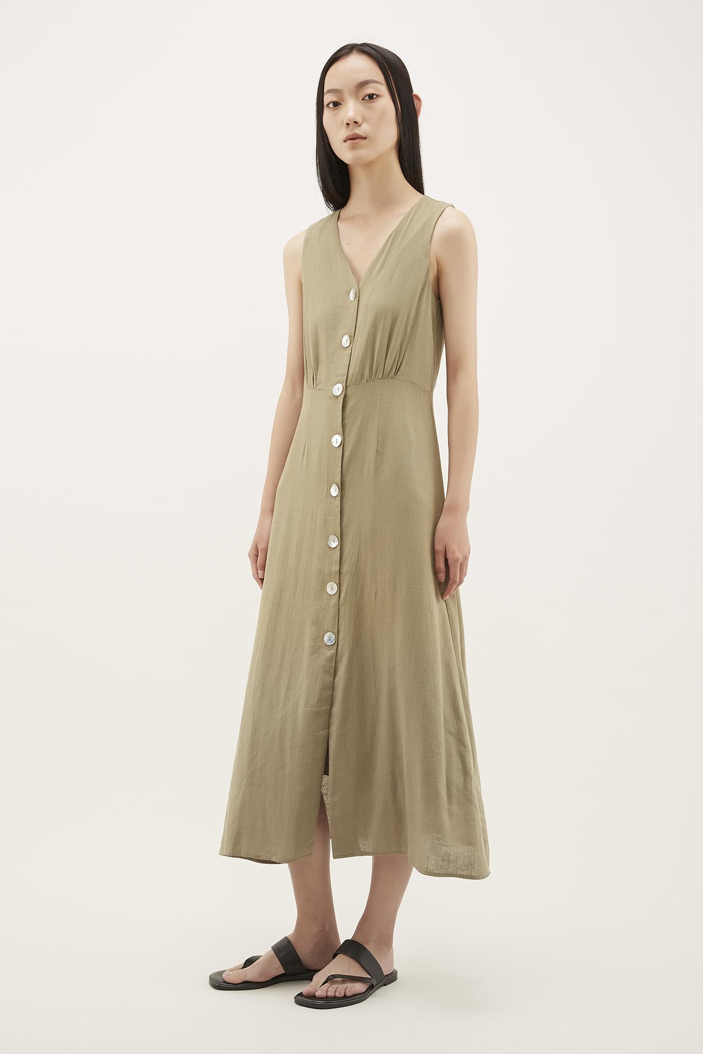 Emavy V-neck Column Dress