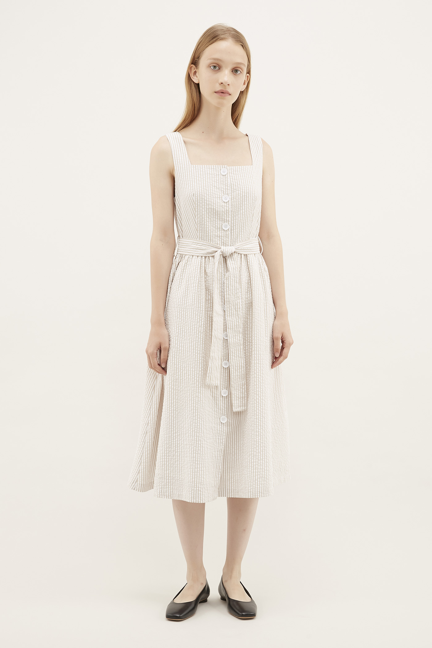 Karie Square-neck Dress