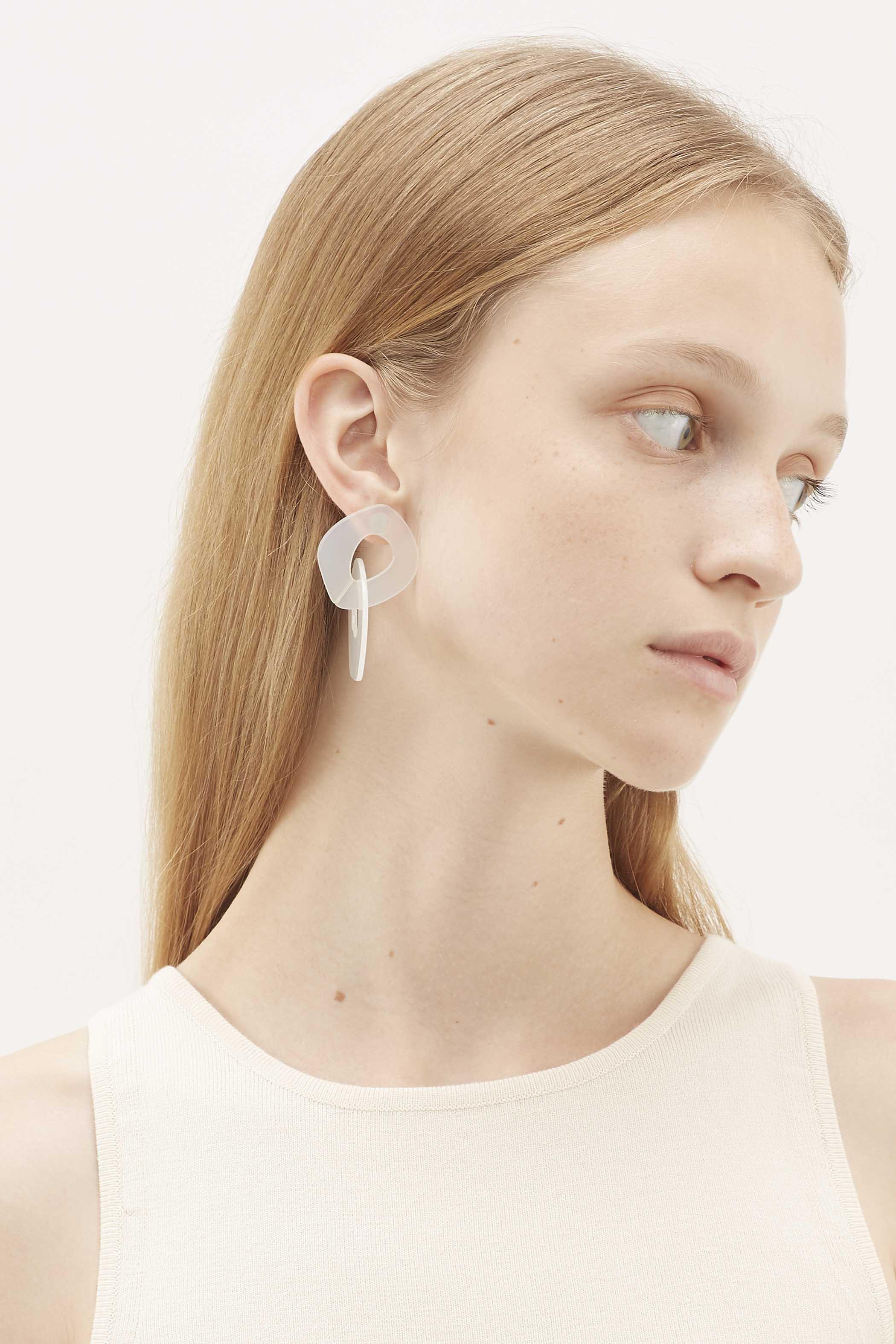Carlson Acrylic Link Earrings