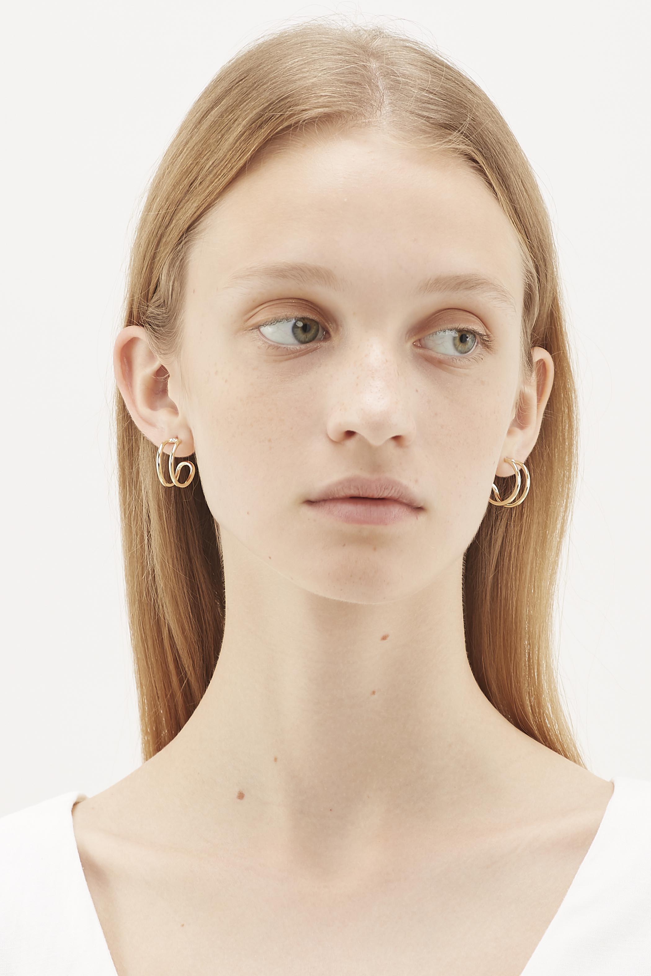 Holga Mini Crescent Earrings