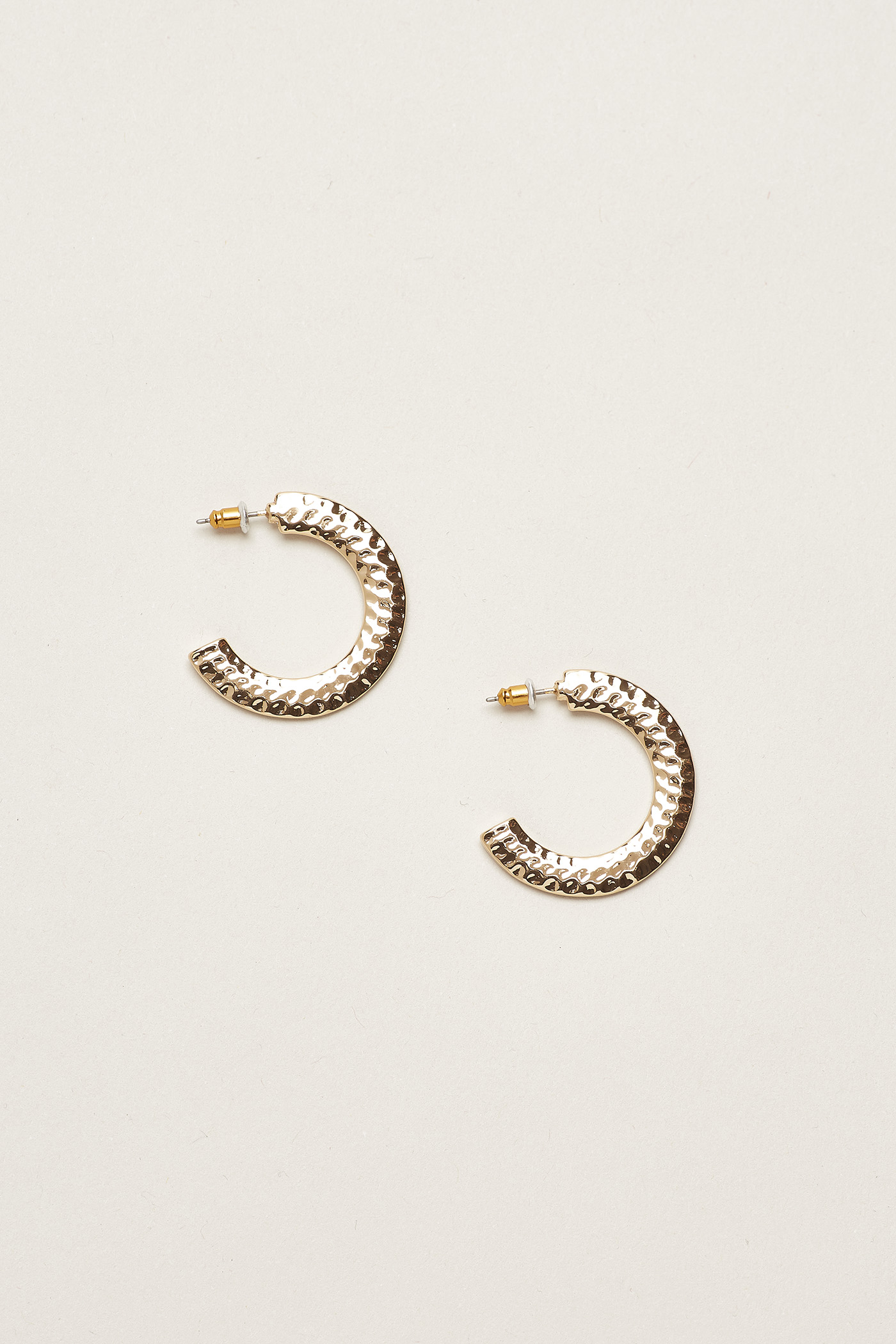 Manya Textured Hoop Earrings