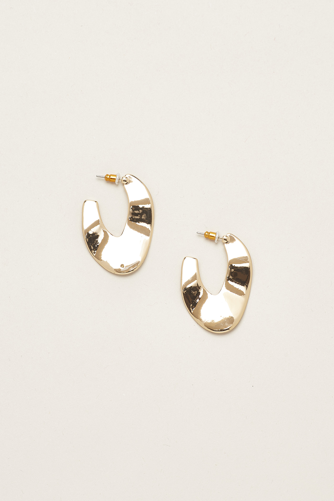 Jaxton Molten Hoop Earrings
