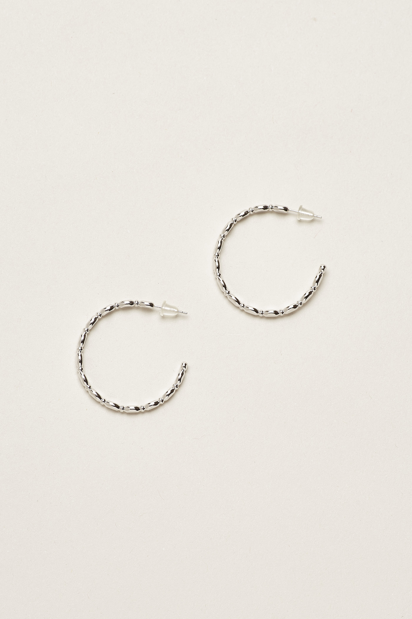 Minh Small Beaded Hoop Earrings