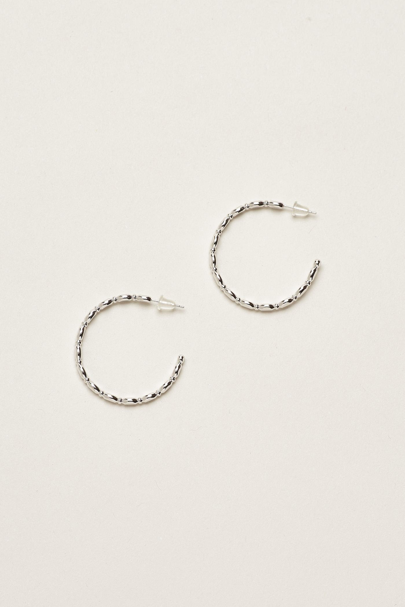 Minh Small Beaded Hoop Earrings