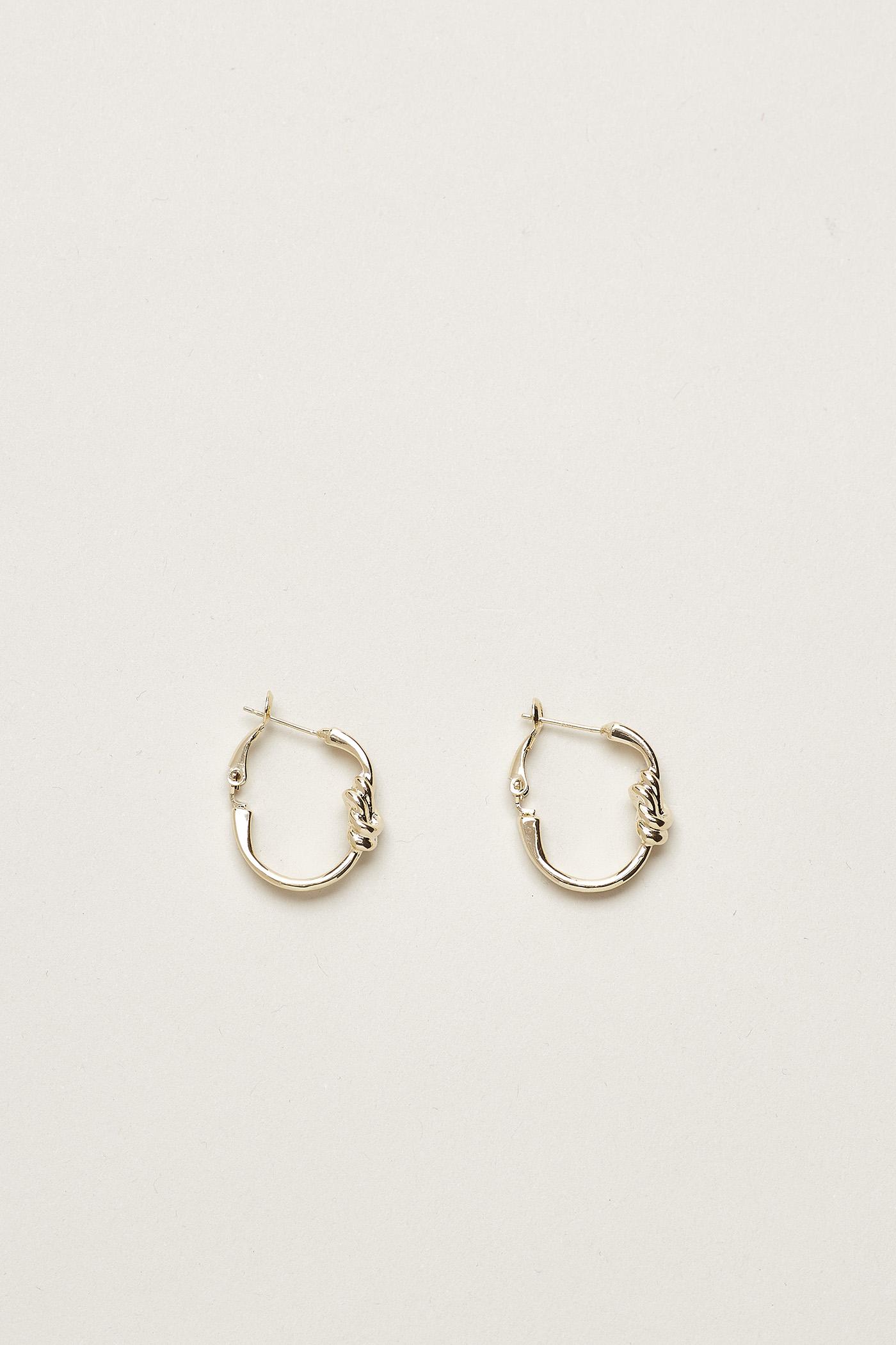 Lewitt Knot Hoop Earrings