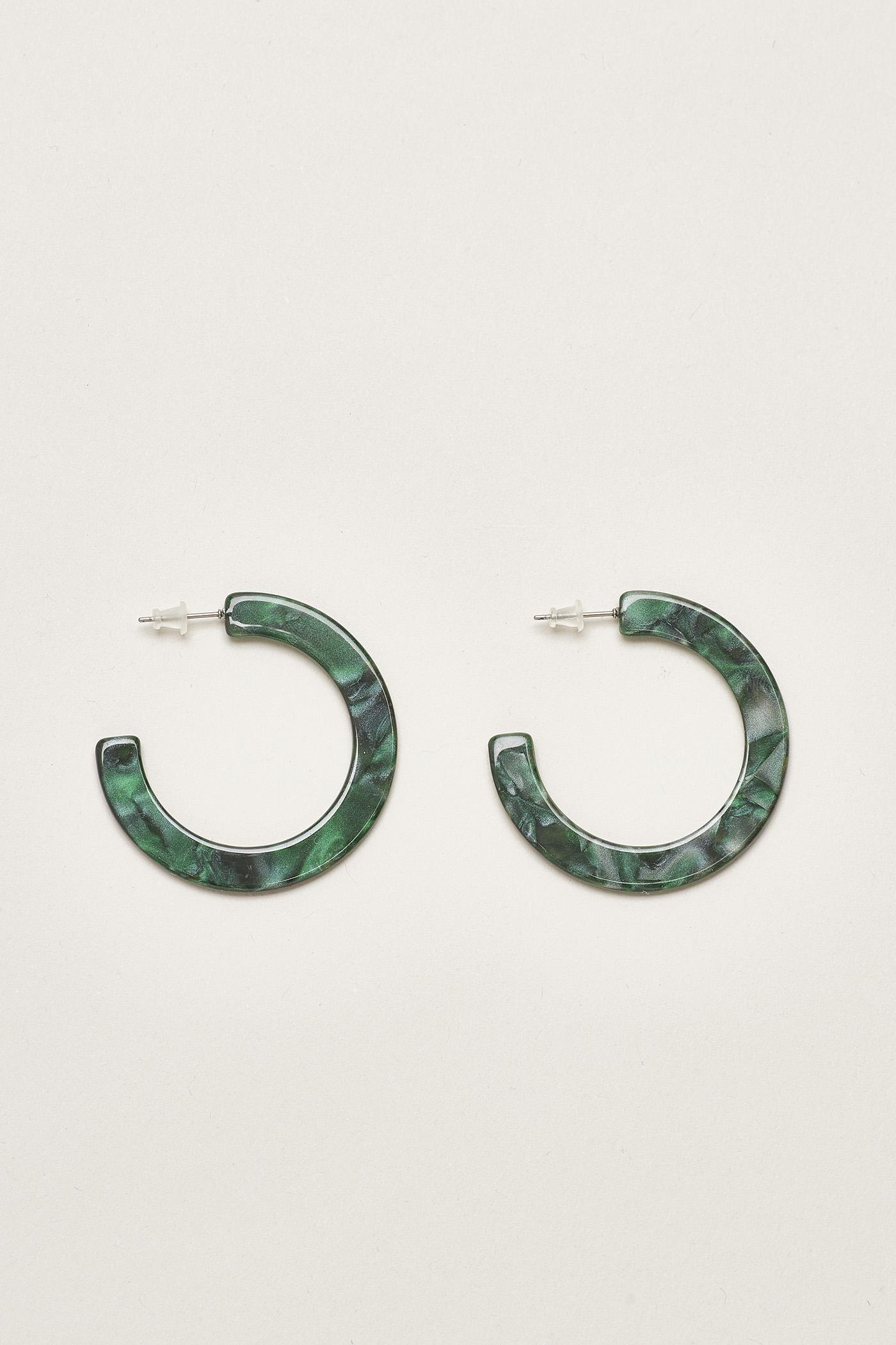 Eluf Resin Hoop Earrings