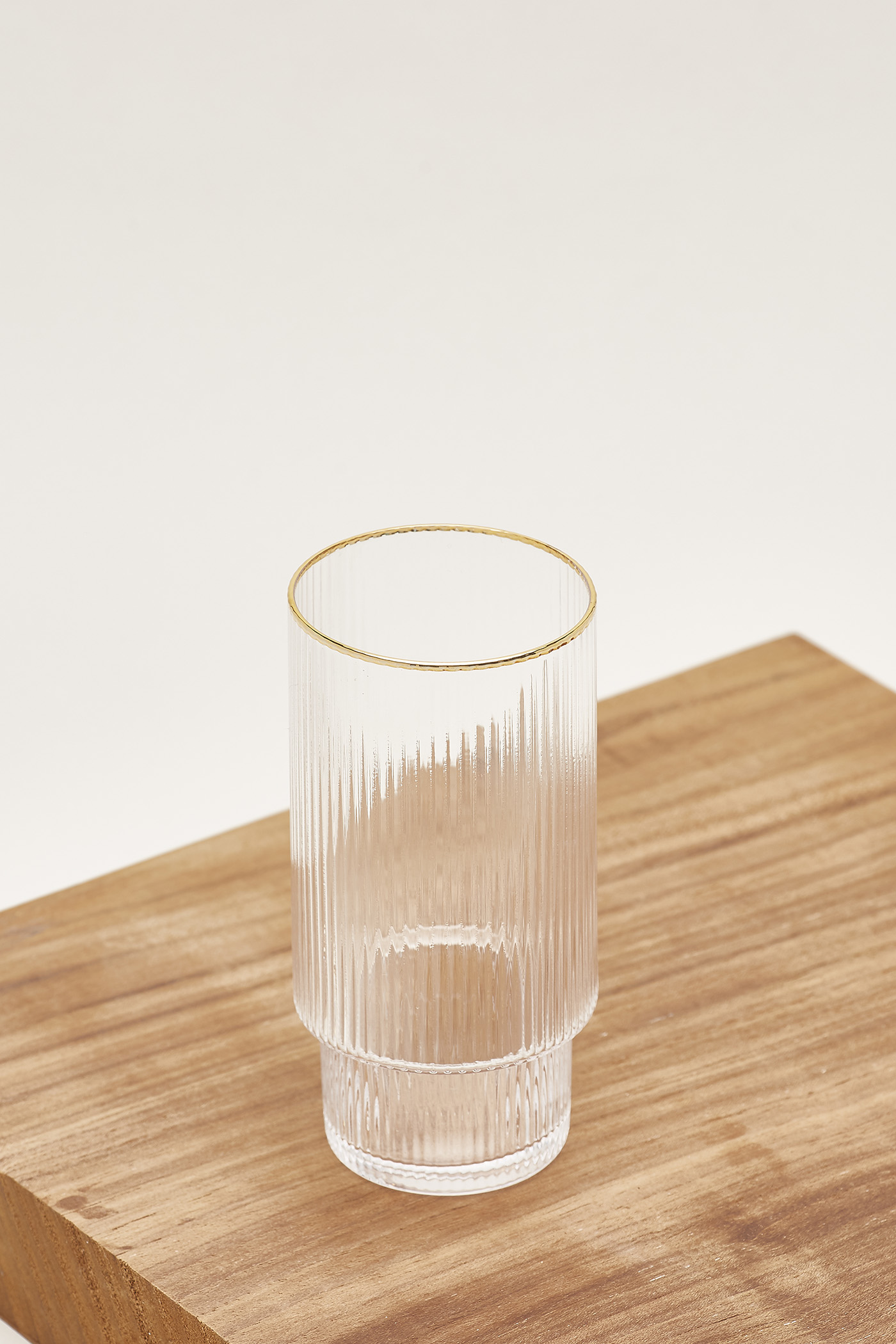 Anders Reeded-Glass Tall Tumbler