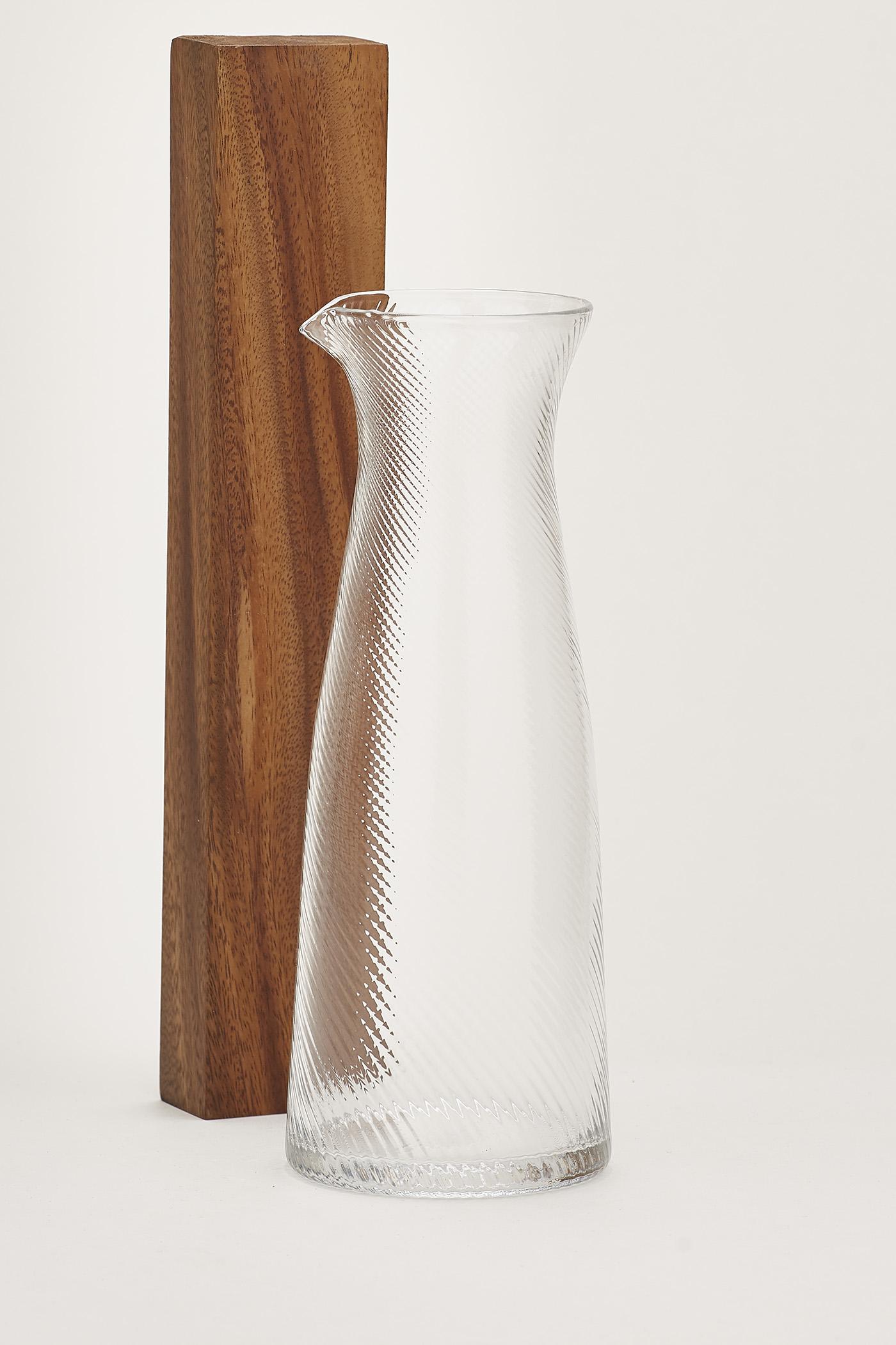 Arni Swirl-Glass Carafe