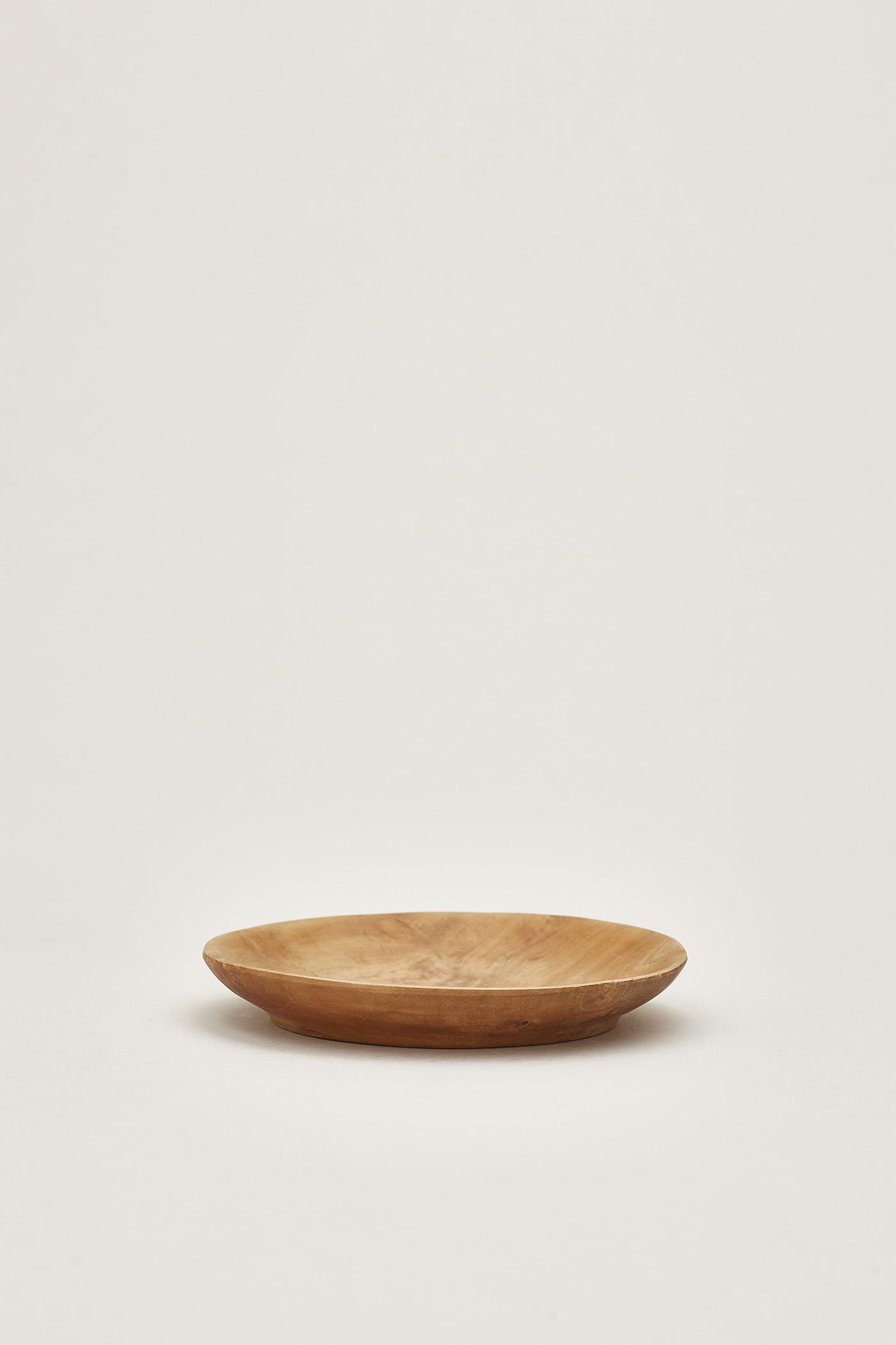 Bjorn Wooden Round Plate