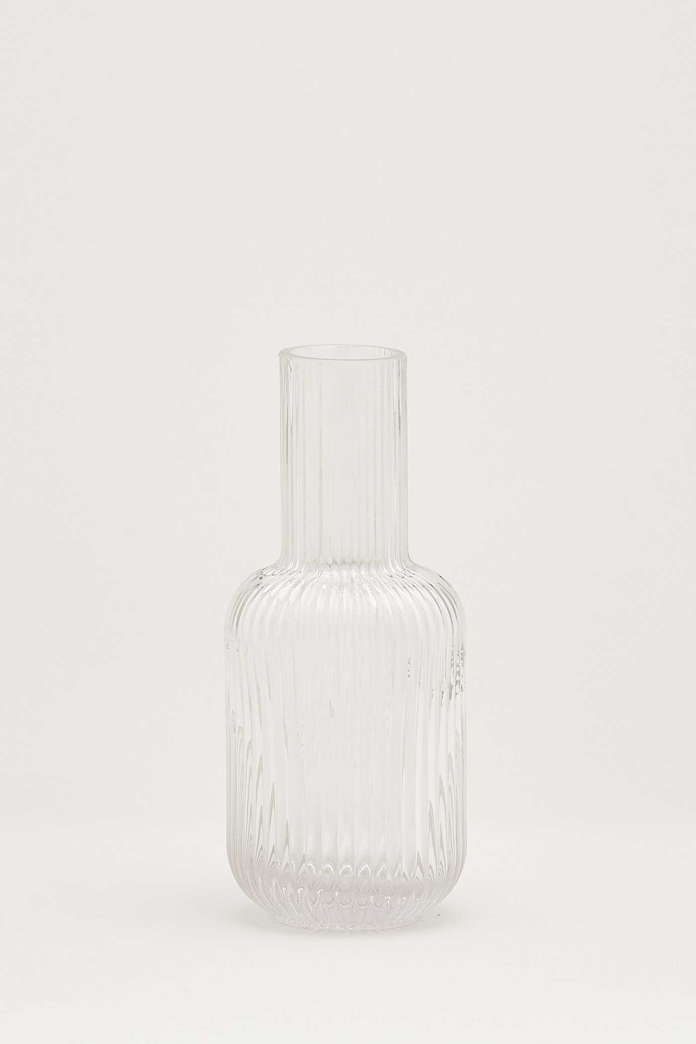 Blakely Reeded-Glass Carafe