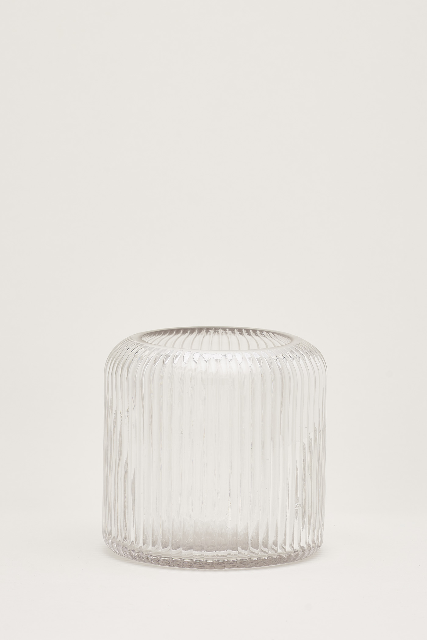 Blakely Reeded-Glass Large Vase