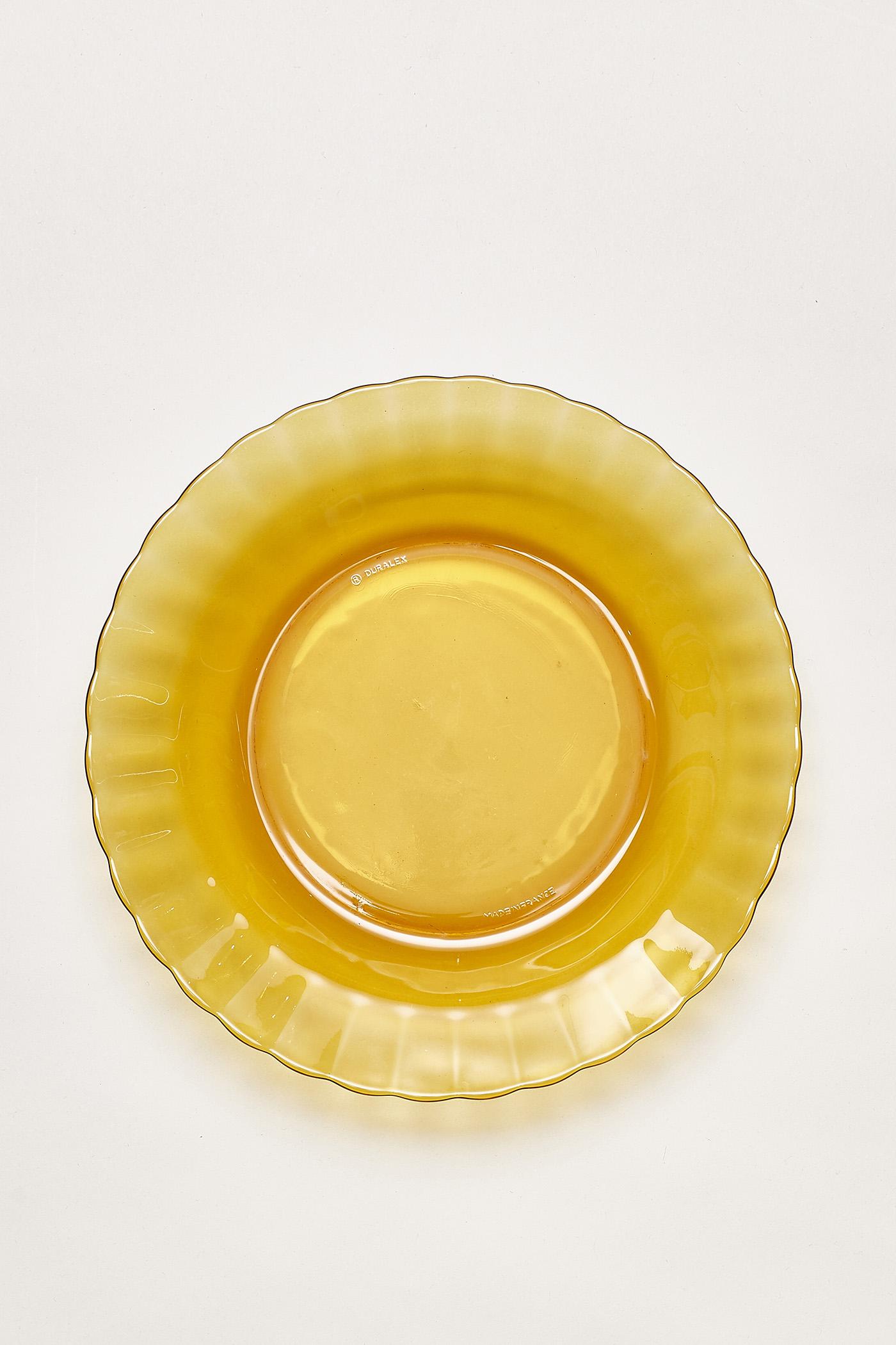 Duralex Amber Scallop-Edge Plate