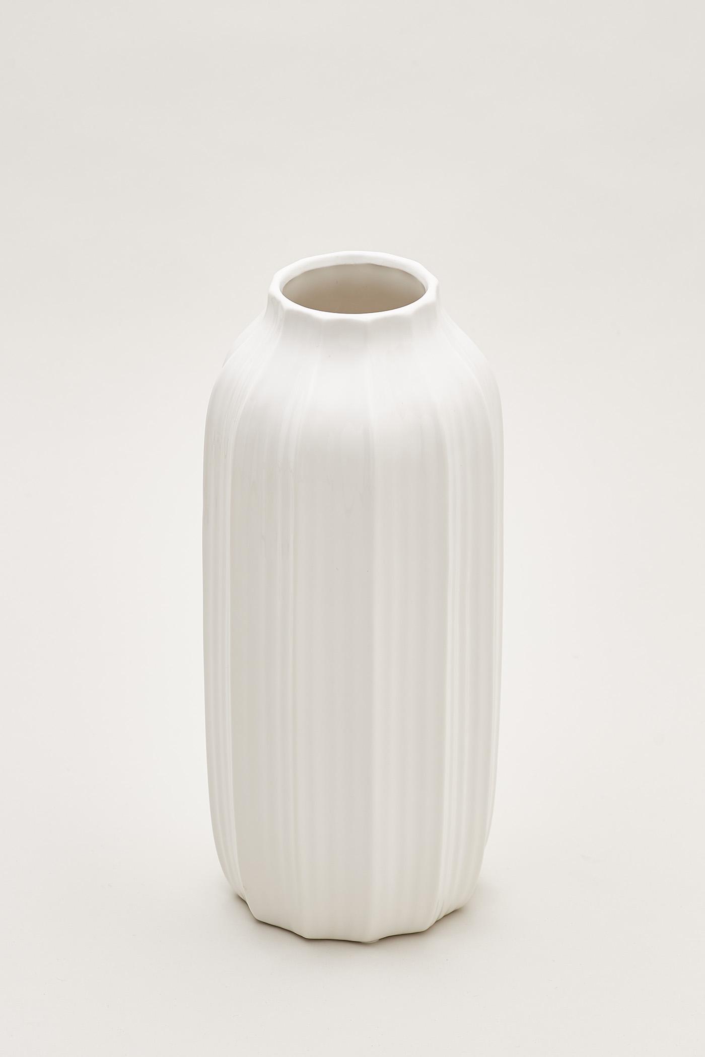 Gustav Vertical Furrow Tall Vase