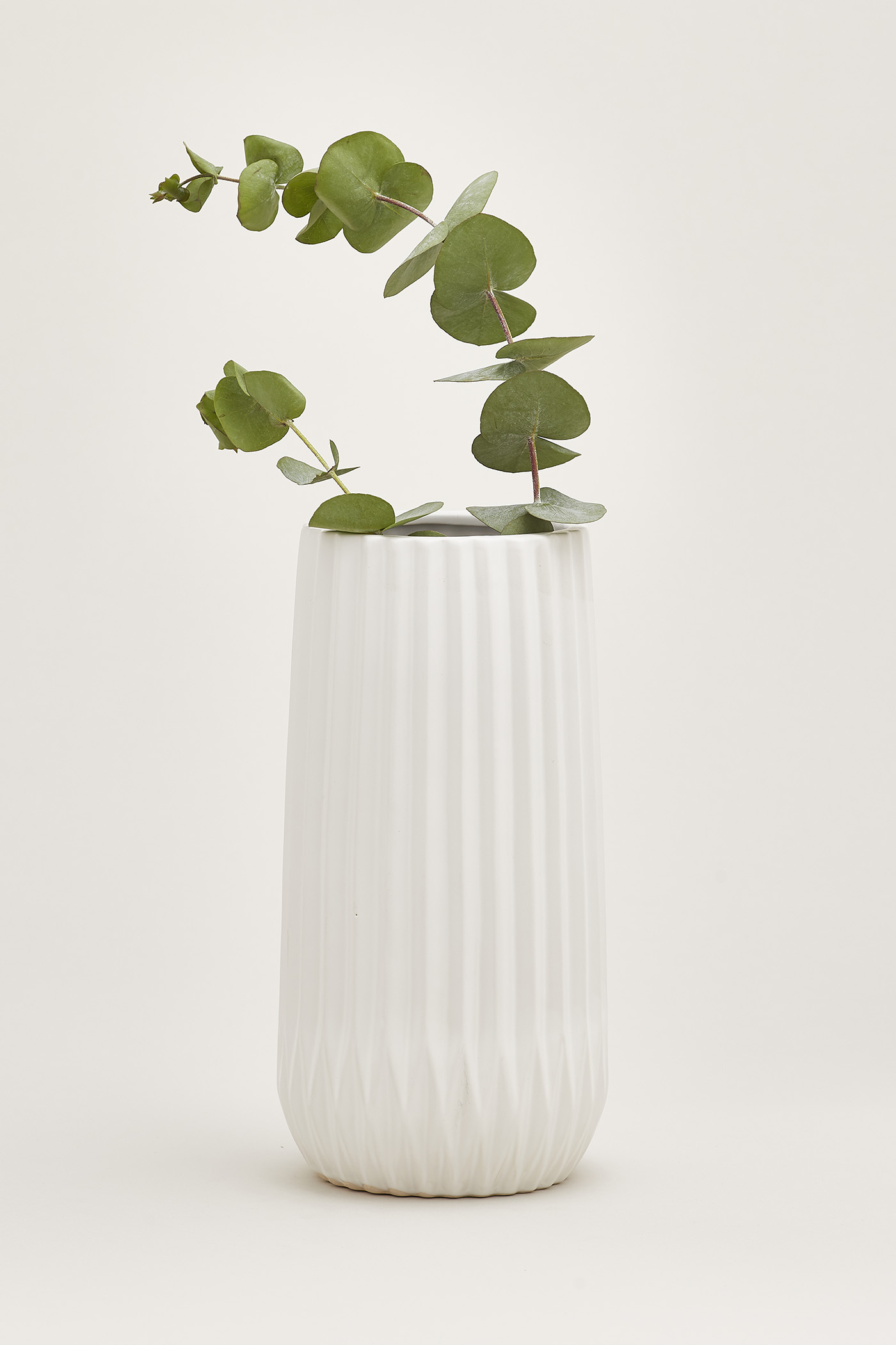 Halden Vertical Furrow Tall Vase