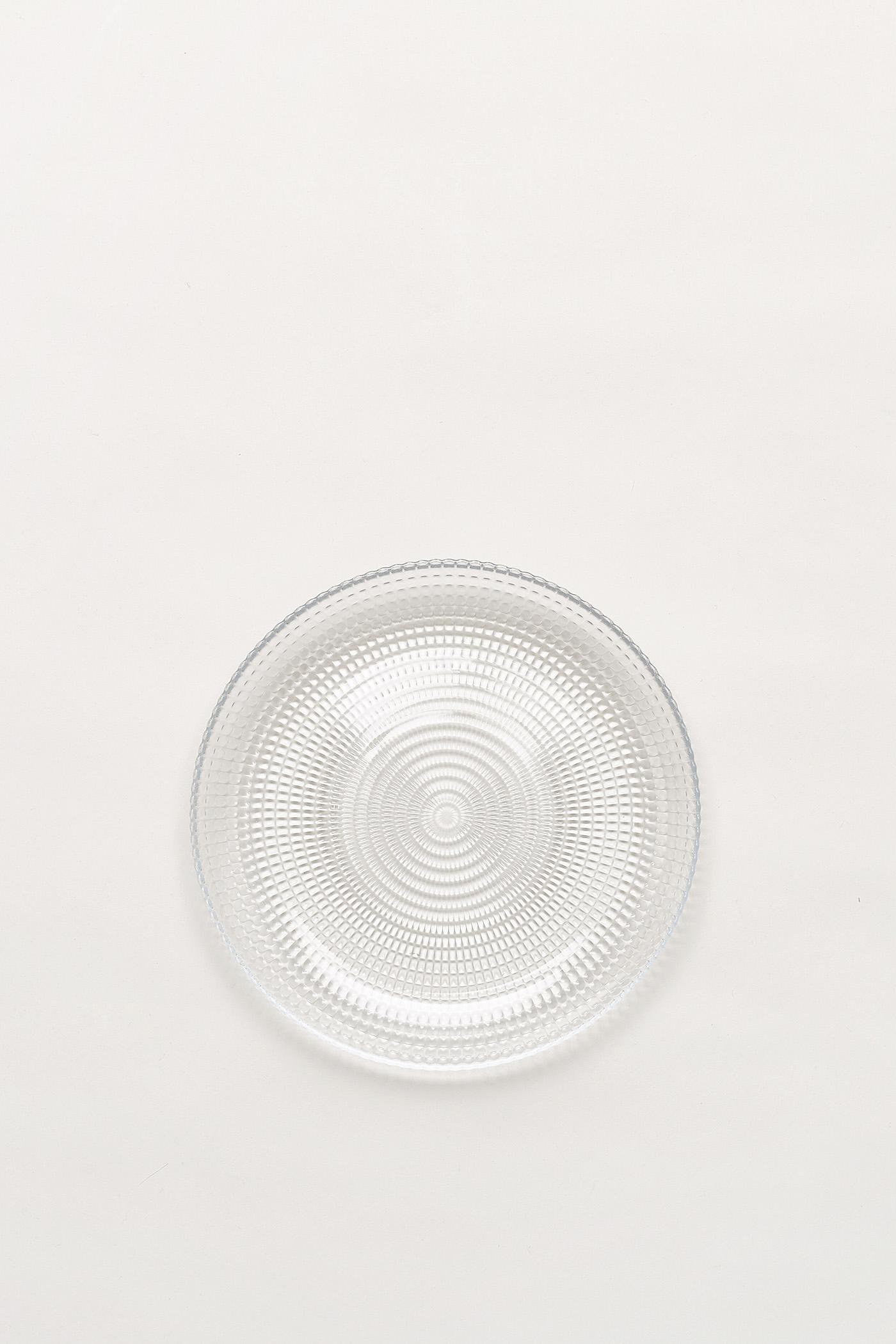 Tia Dimpled-Glass Medium Plate