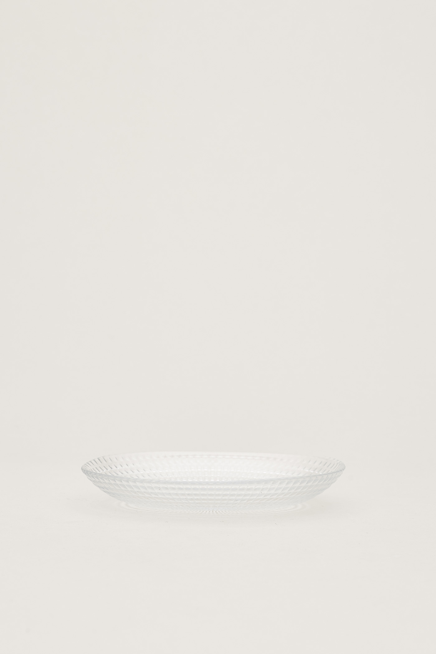 Tia Dimpled-Glass Oval Plate