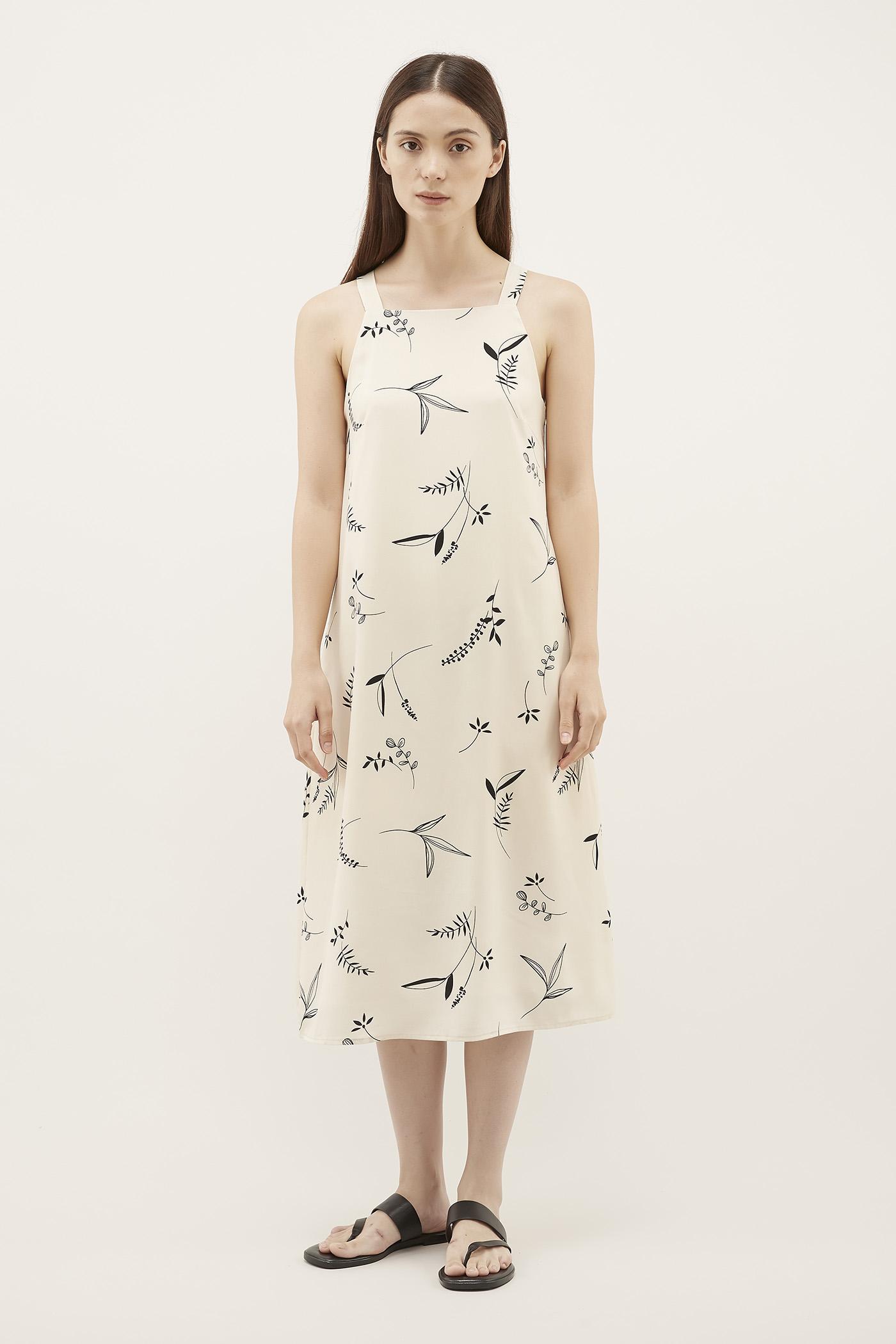 Pimaco Square-Neck Dress