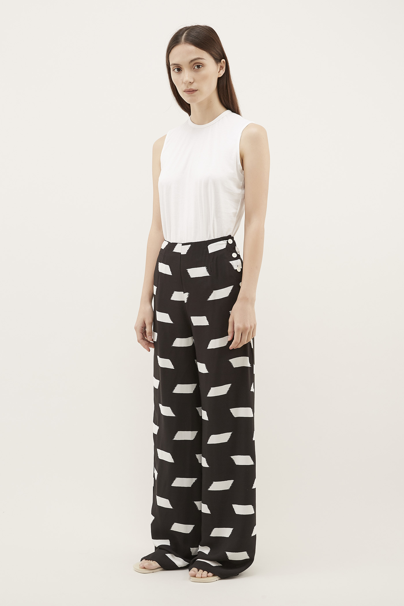 Odira Side-Button Pants