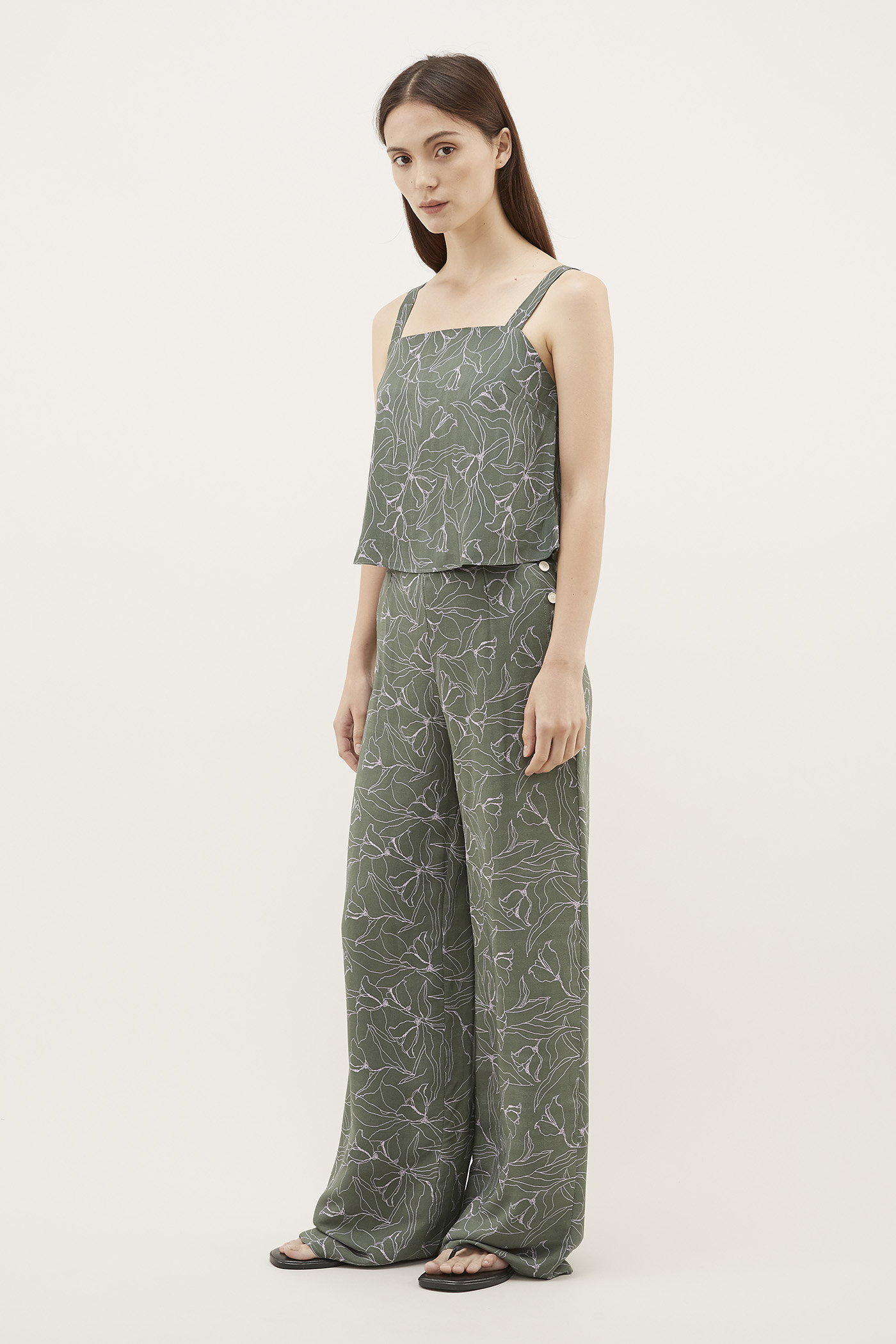 Ofina Side-Button Pants