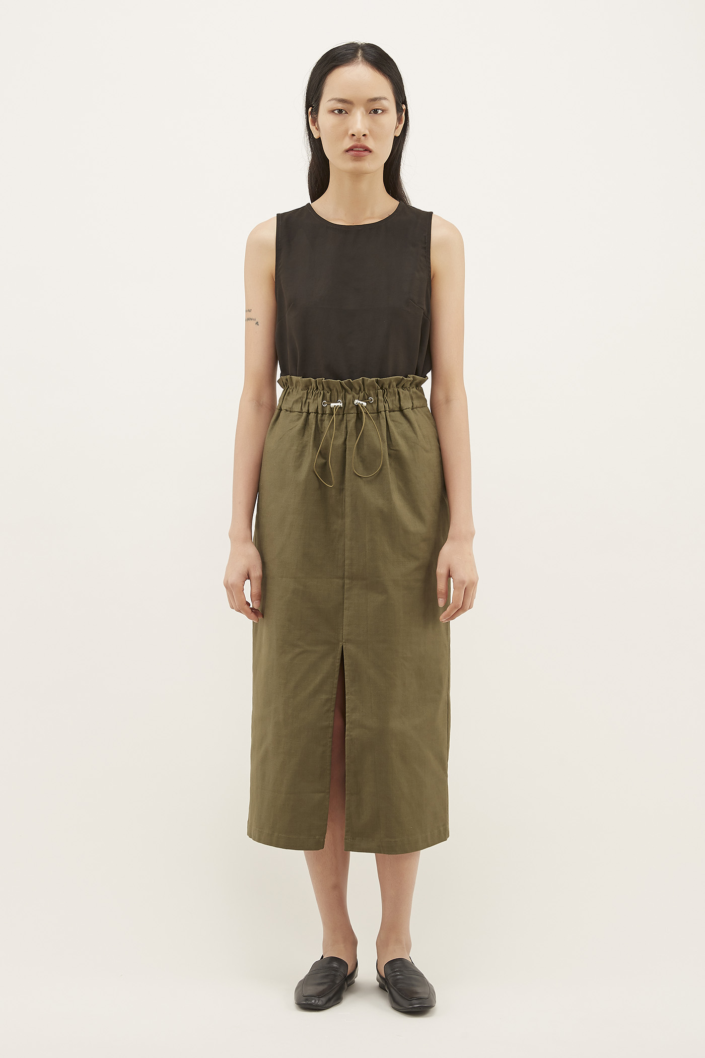 Angus Gathered-waist Skirt
