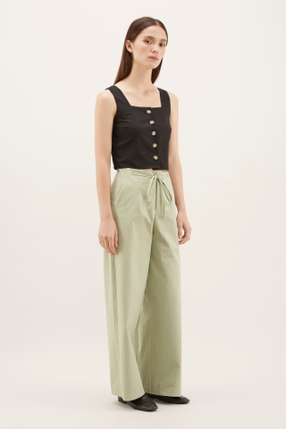 Hulda Square-Neck Crop Top