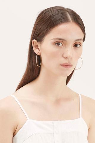 Briell Shiny Hoop Earrings