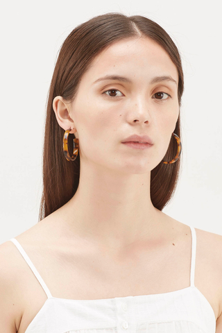 Kerra Resin Flat Earrings