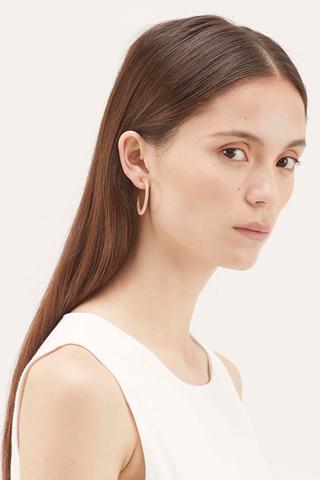 Lynae Open Hoop Earrings