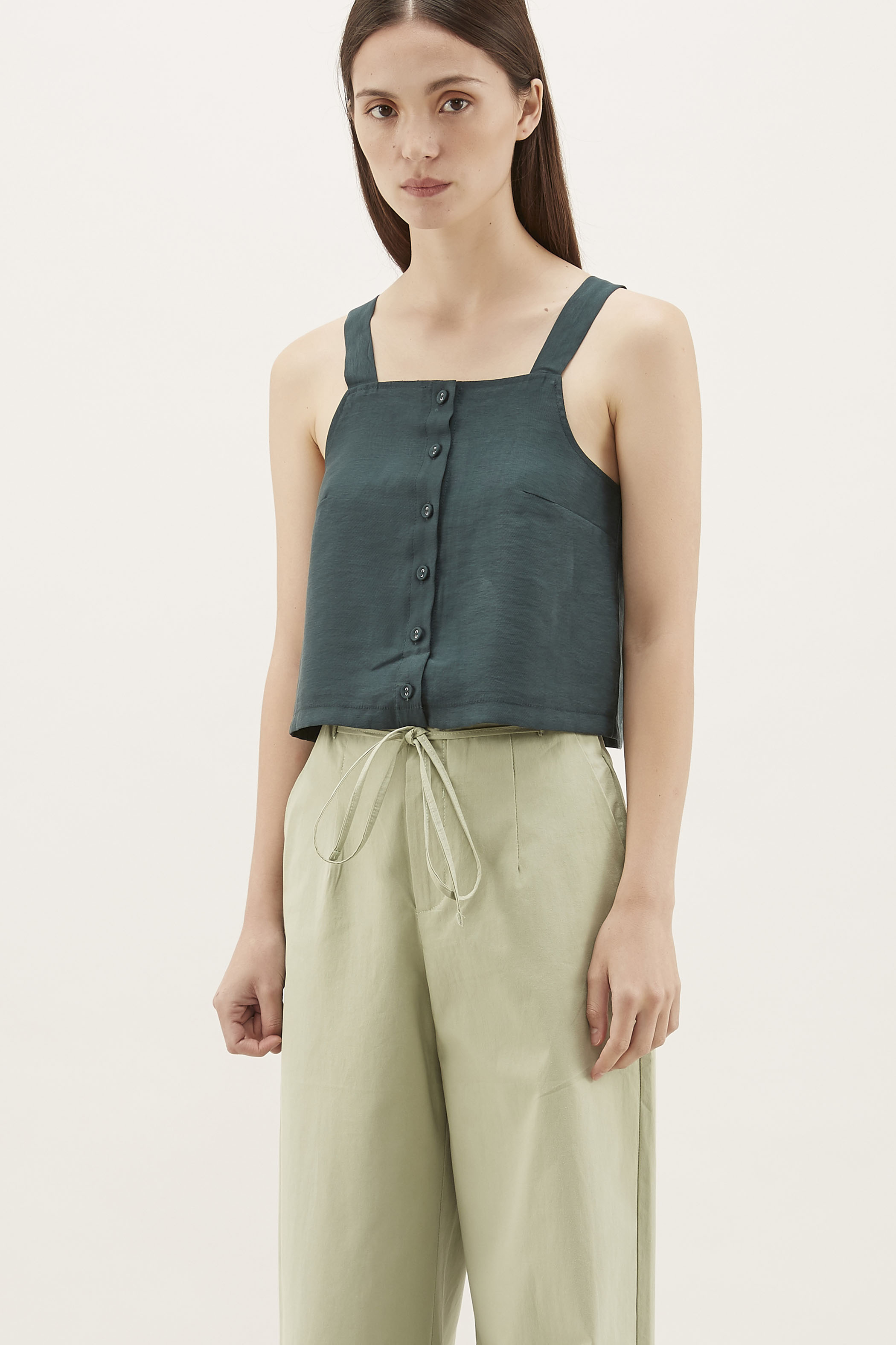 Summer Button-Through Crop Top