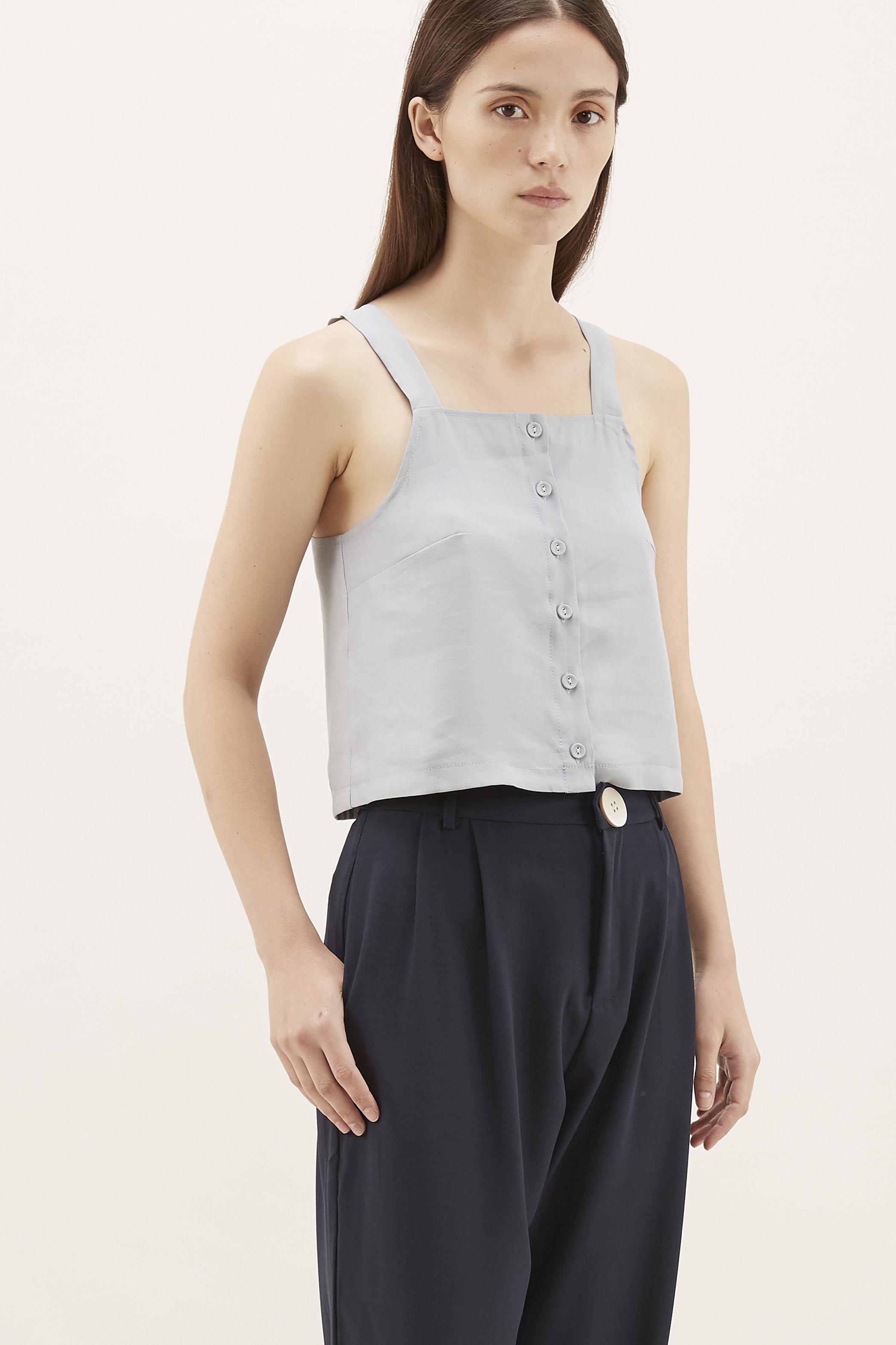 Summer Button-Through Crop Top
