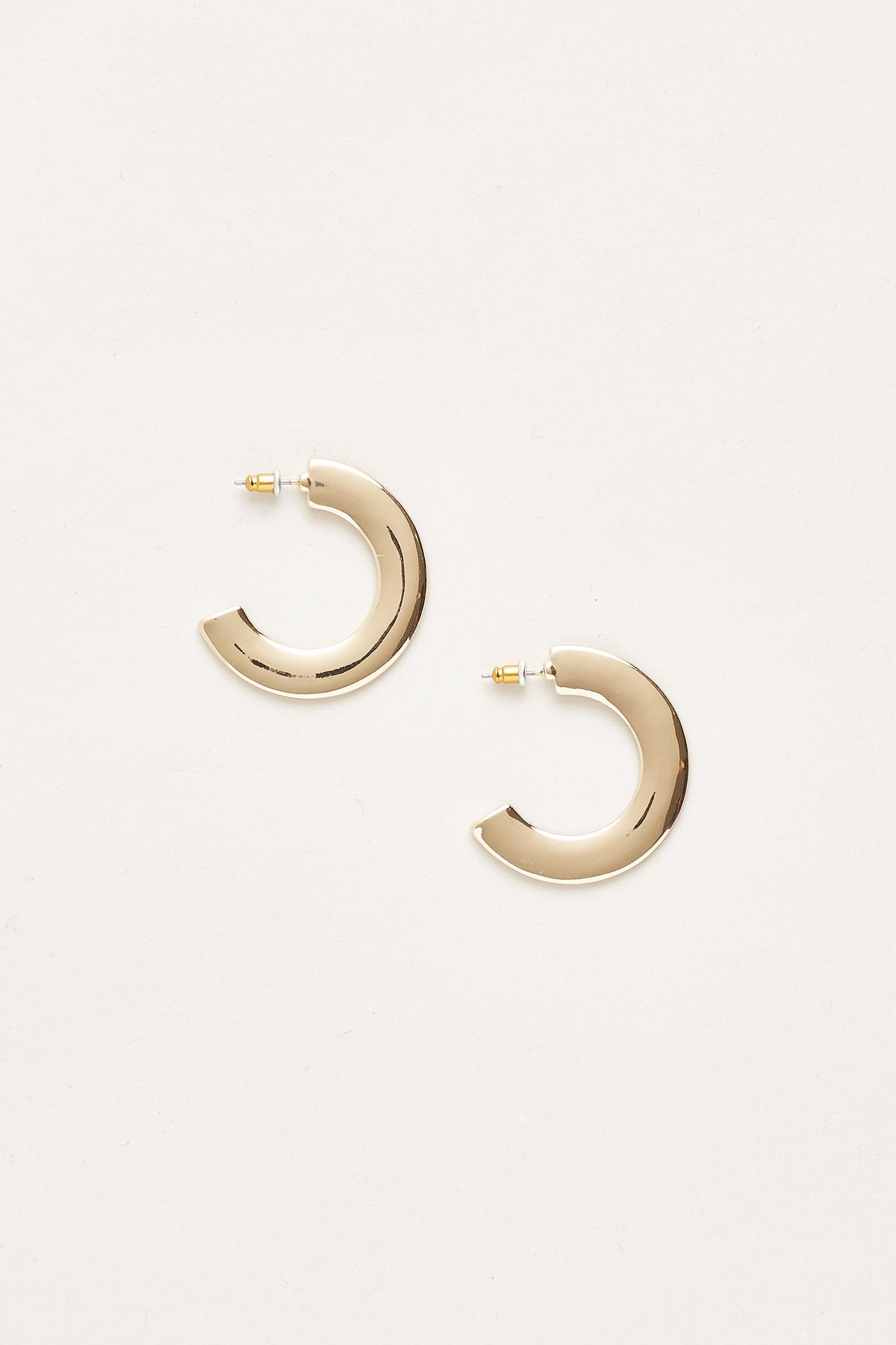 Landry Flat Hoop Earrings