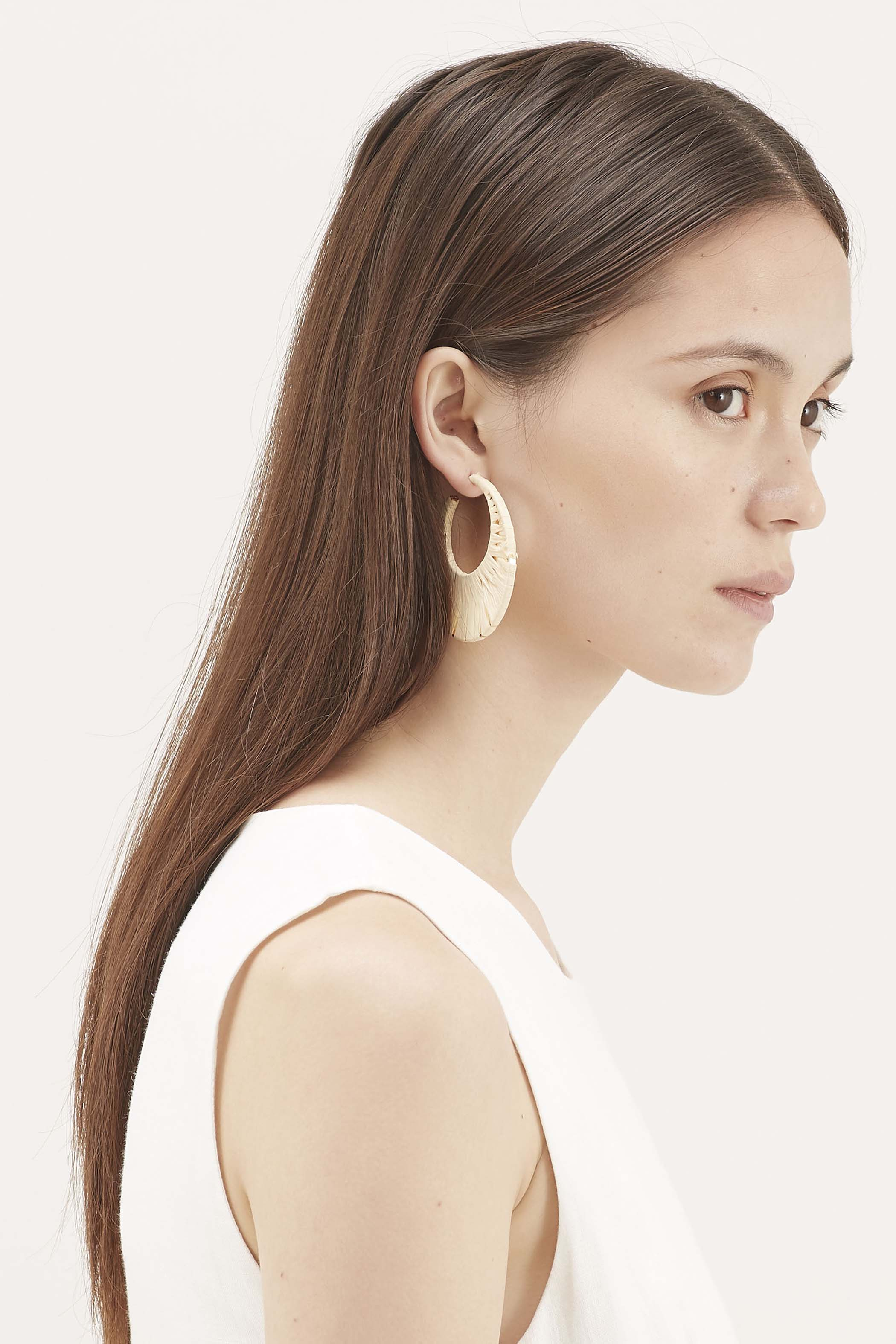 Ivar Raffia Hoop Earrings